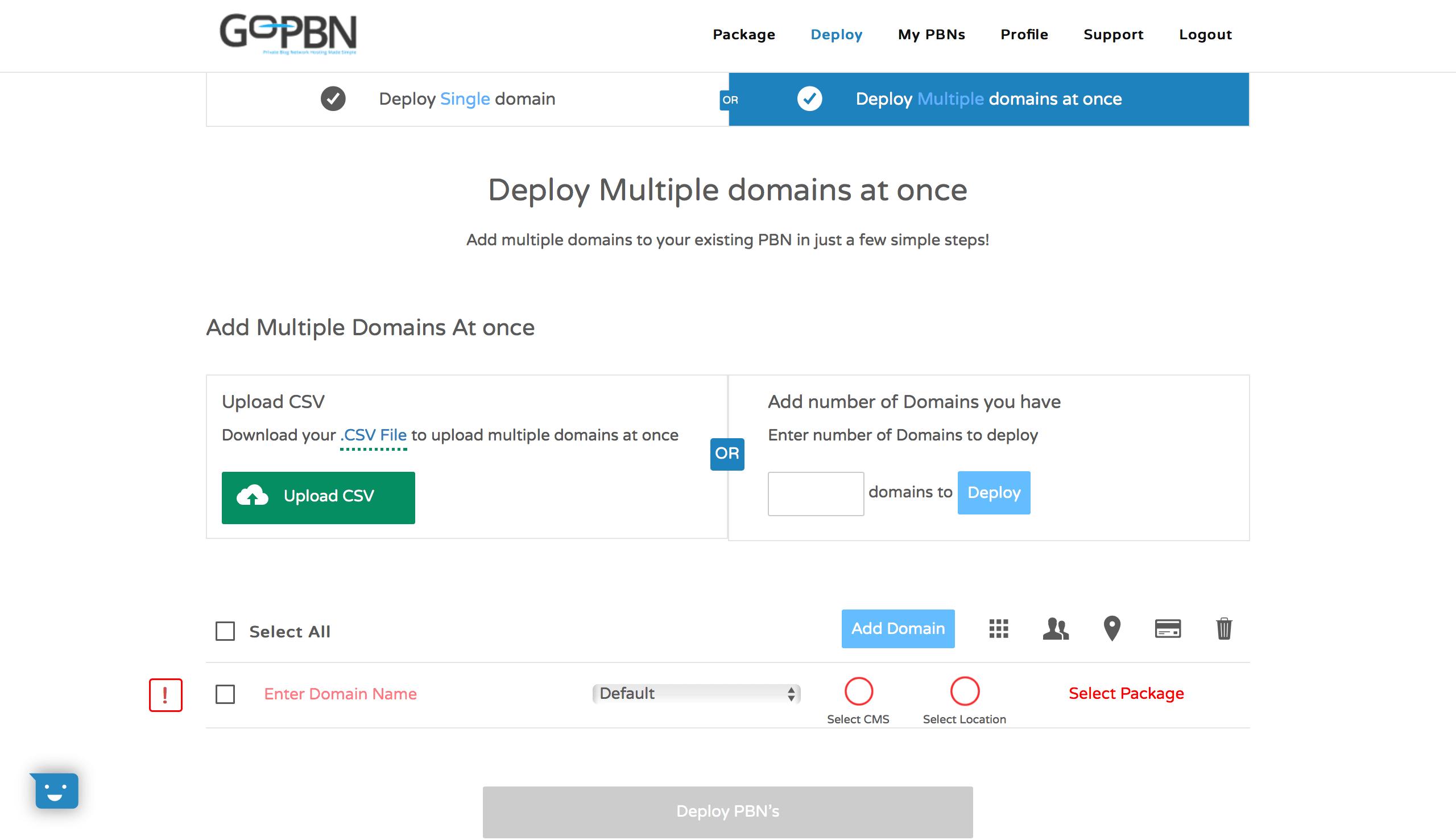 GoPBN domain import